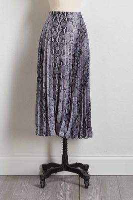 snake charmer pleated skirt