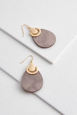 scaly faux leather earrings