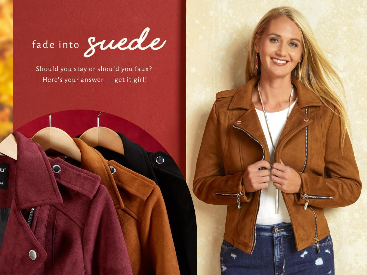 Fade Into Suede collection