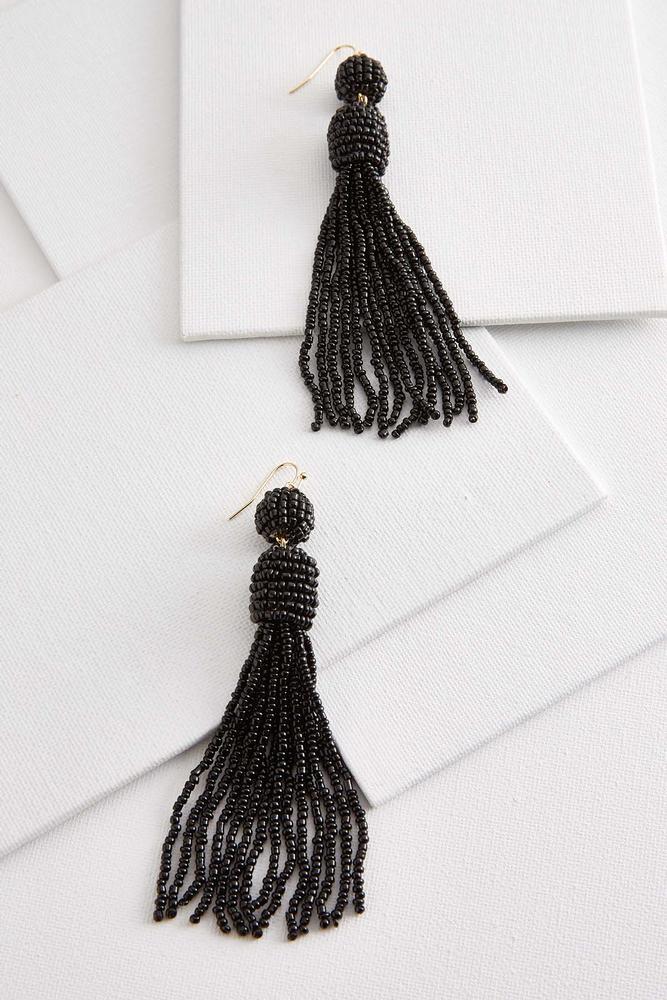 Planting A Seed Tassel Earrings