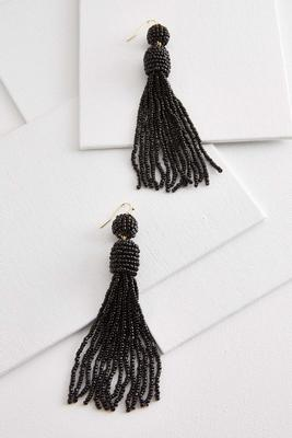 planting a seed tassel earrings