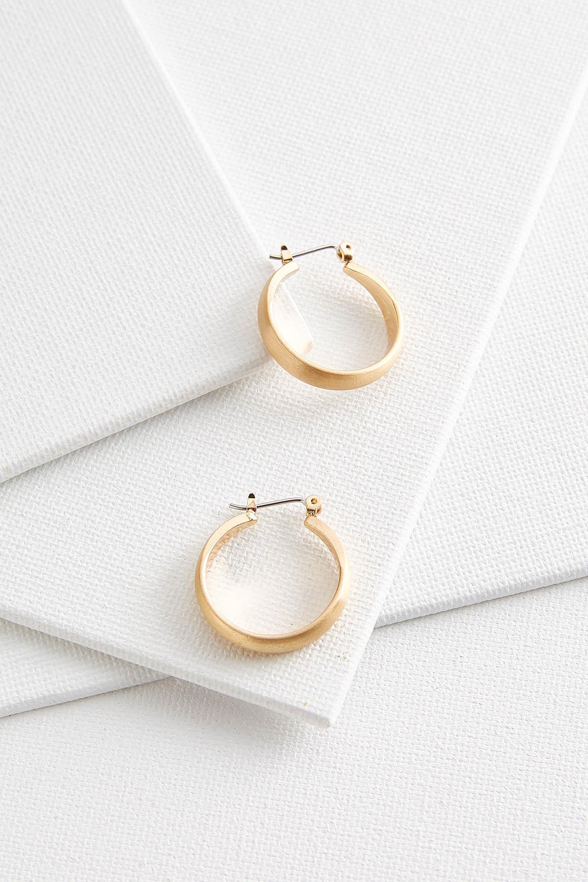 Satin Gold Hoop Earrings