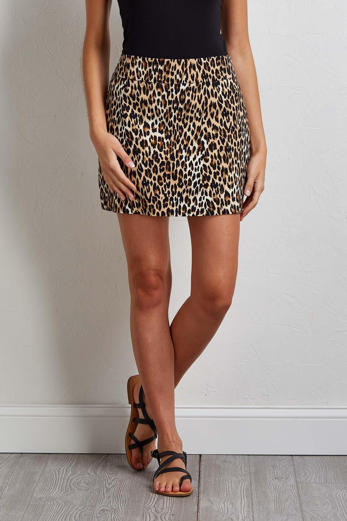 Leopard Skort