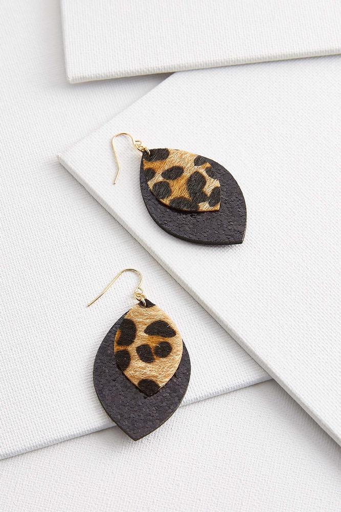 Glitzy Animal Print Earrings