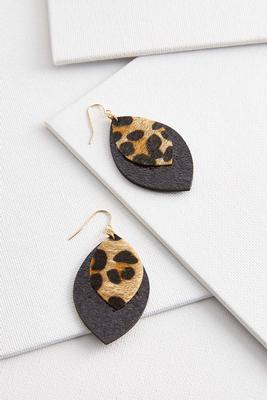 glitzy animal print earrings
