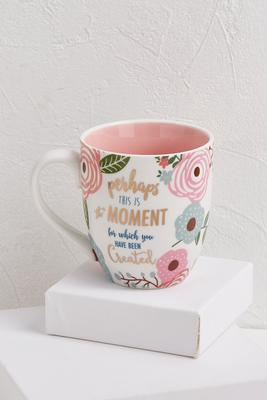 inspirational floral mug