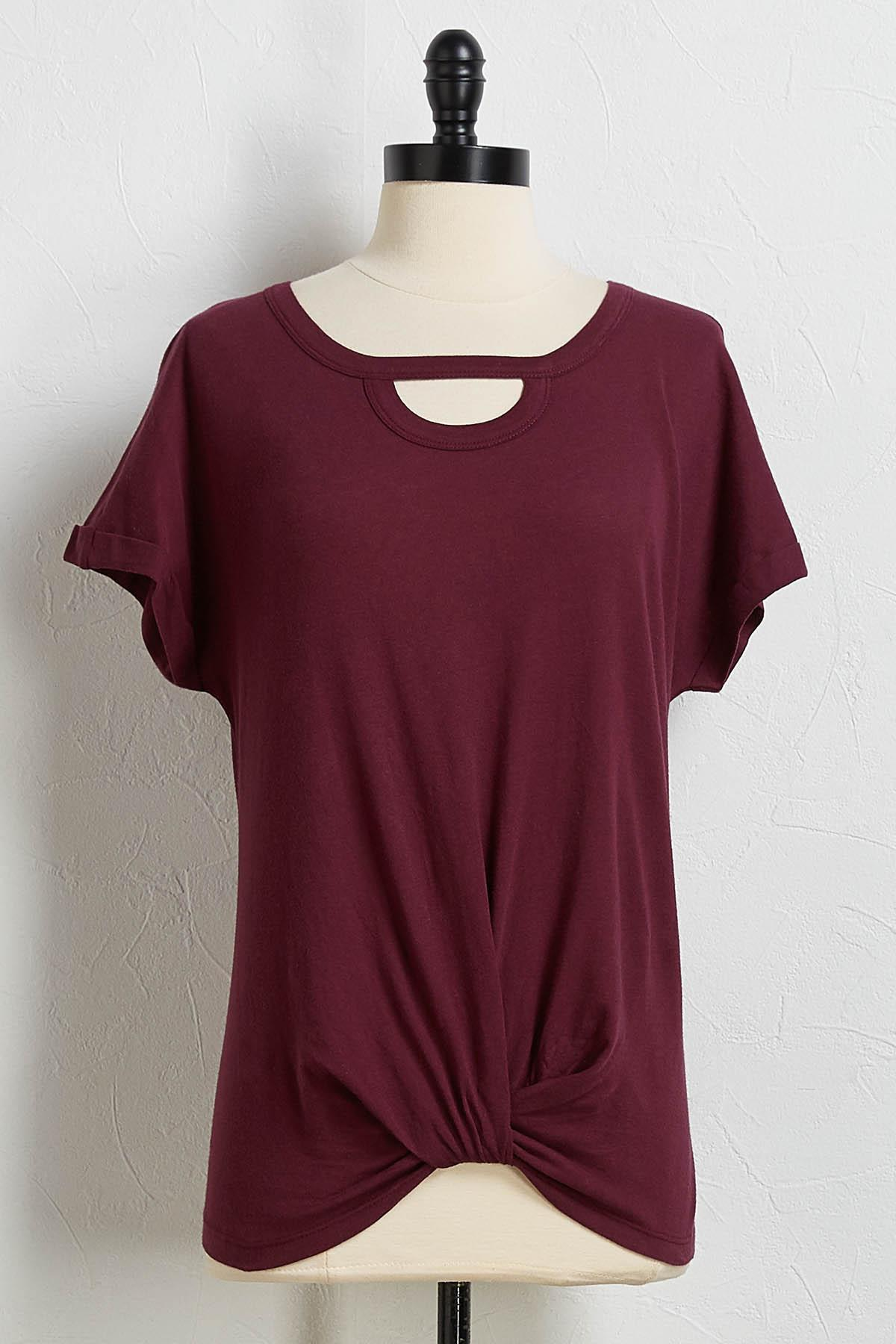 Cutout Twisted Tee