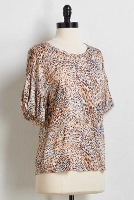 animal balloon sleeve top