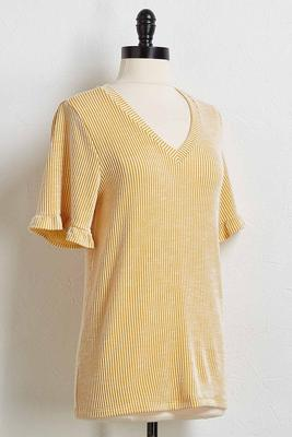 yellow ruffle tee