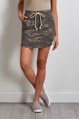 knit camo skirt