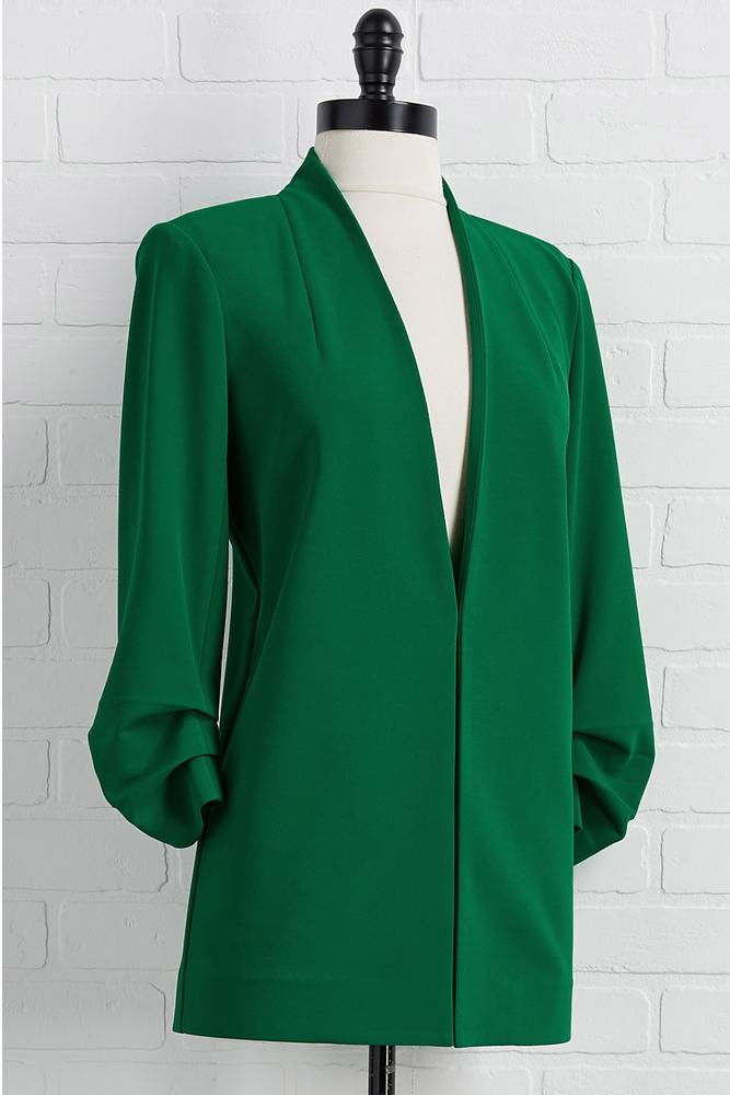Essential Collarless Blazer