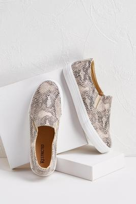 snake slip-on sneakers