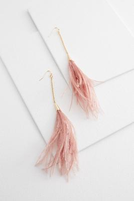 feather duster earrings