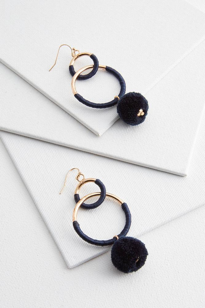Poms And Links Earrings