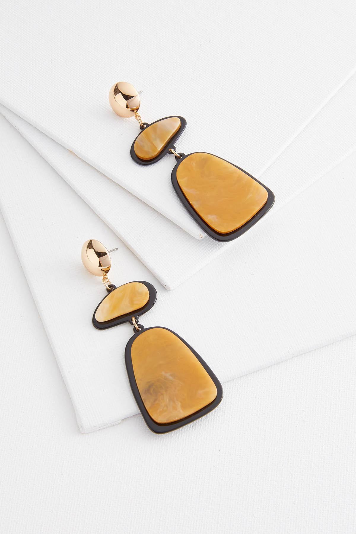 Carmel Lucite Earrings
