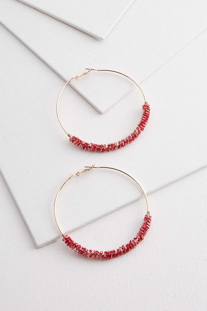 Crushed Crystal Wrapped Hoops