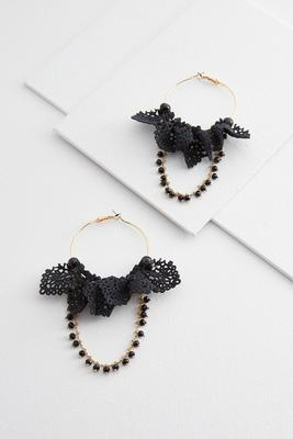 ruffled crochet hoops