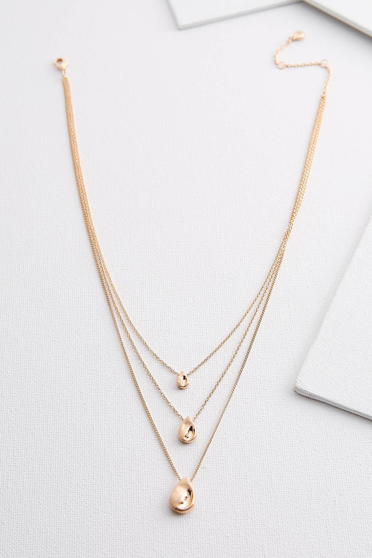 Golden Tears Pendant Necklace