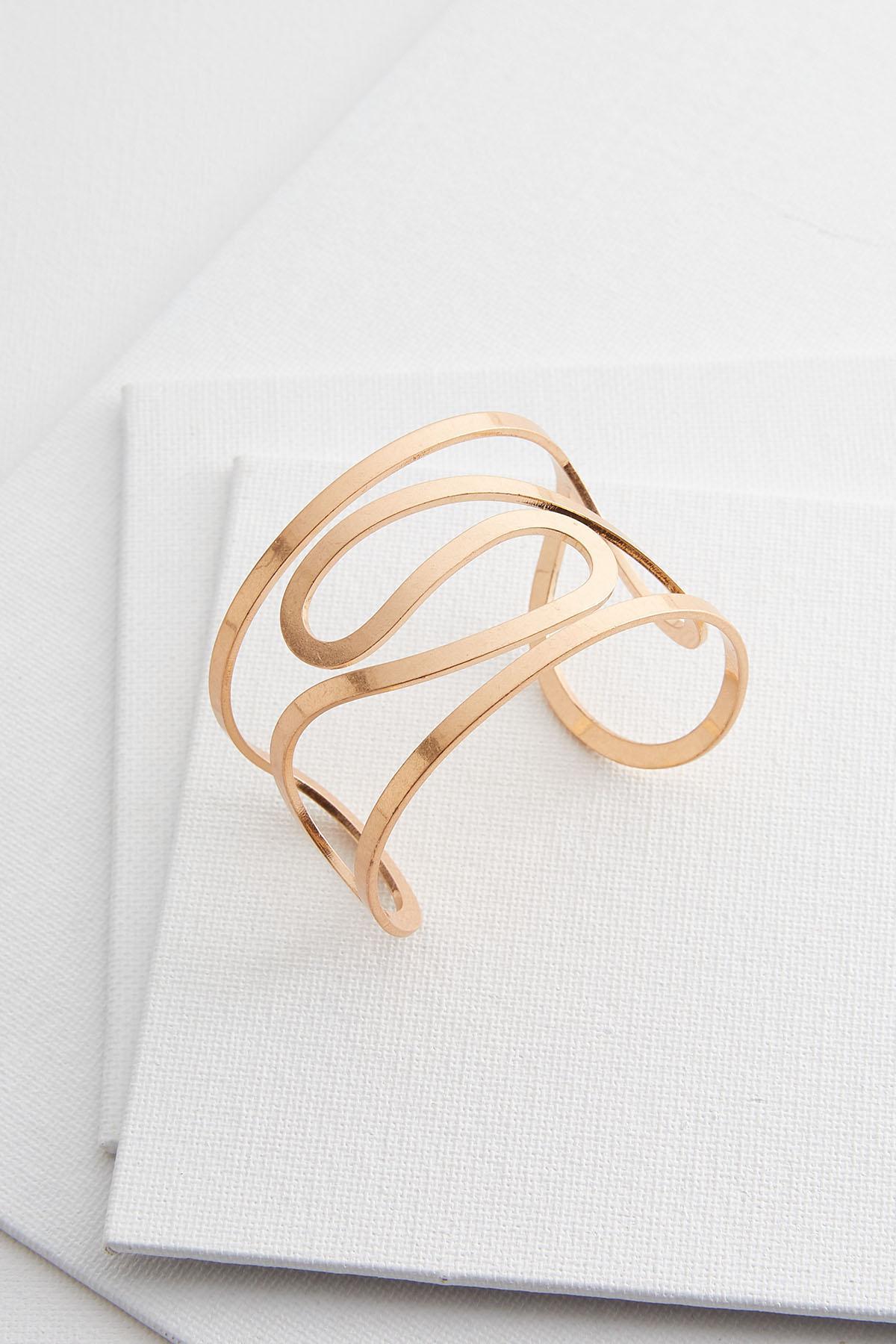 Swirly Metal Cuff Bracelet