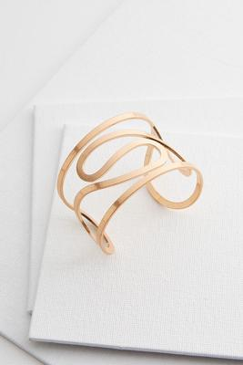 swirly metal cuff bracelet