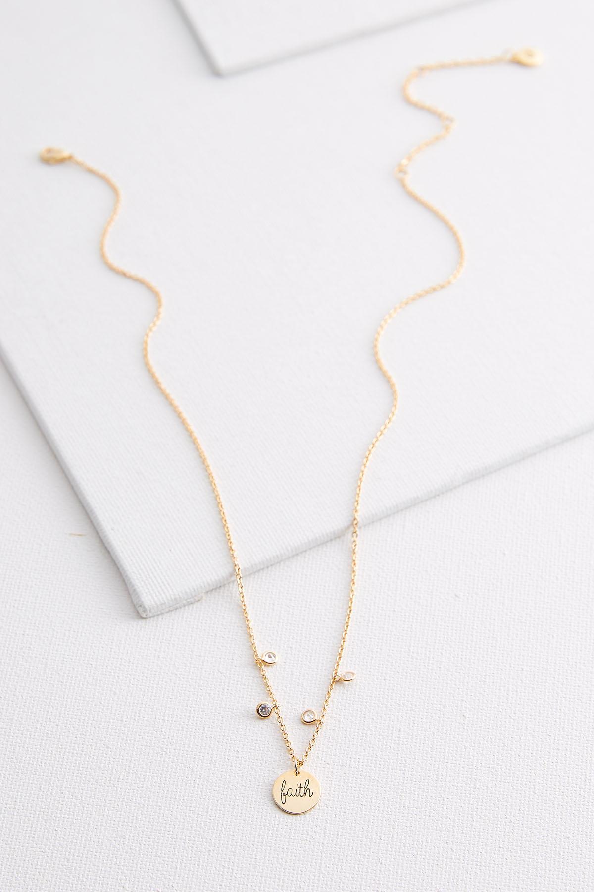 Faith Disc Necklace