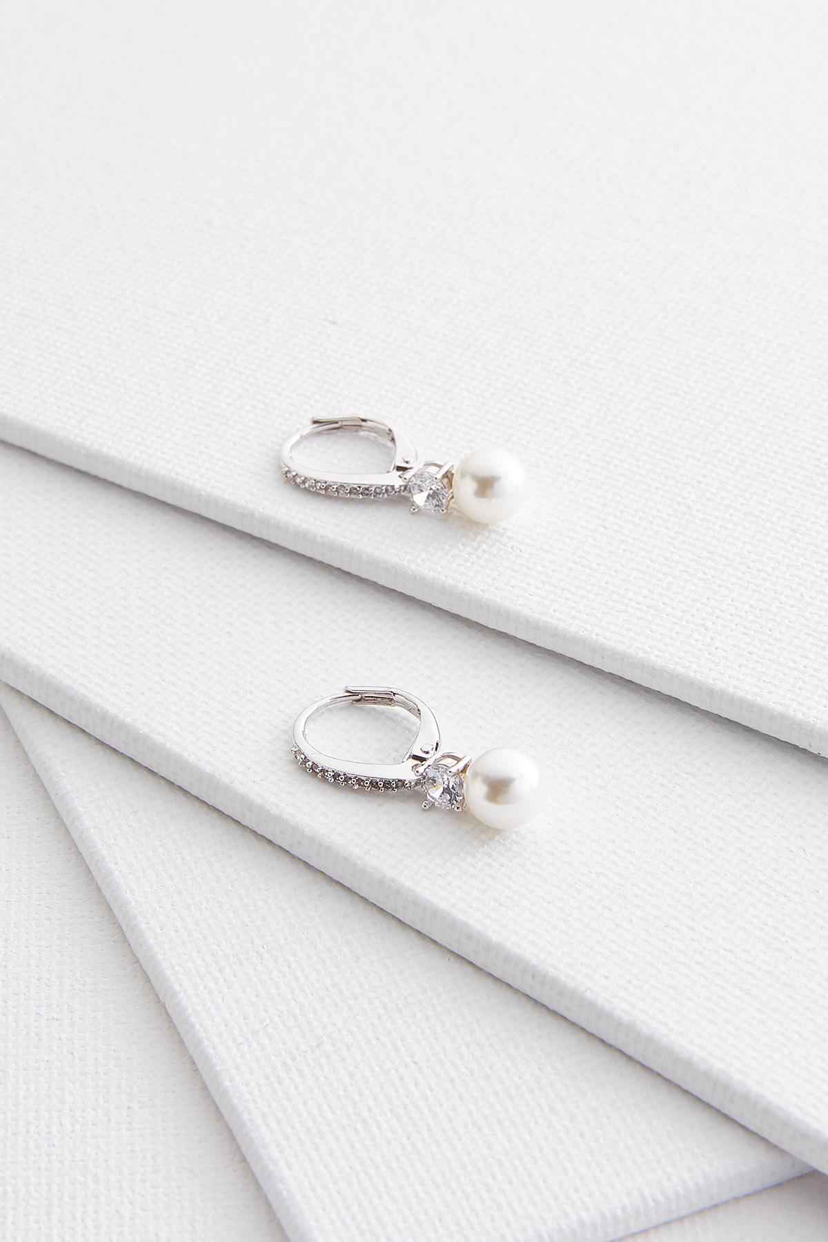 Pave Pearl Earrings