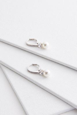 pave pearl earrings