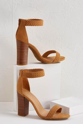 braided block heeled sandal