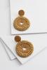 Shimmering Circle Earrings