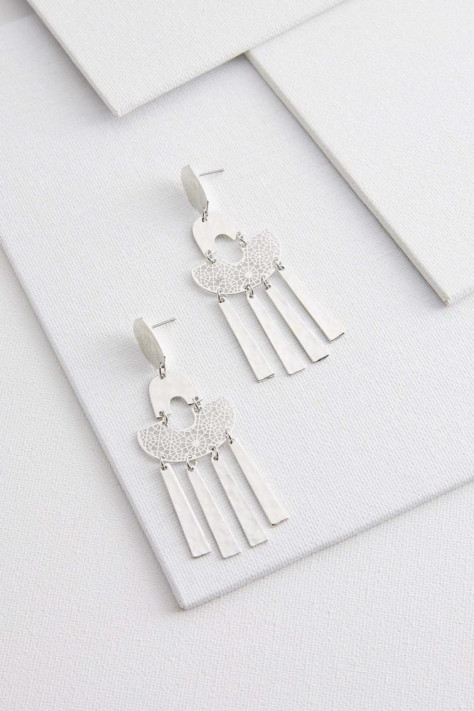 Silver And Shake Earrings