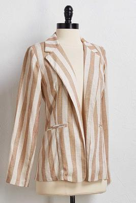 you`re linen me blazer