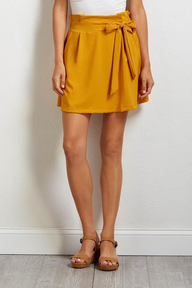 Side Tie Mini Skirt