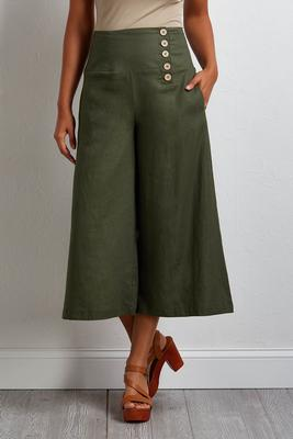 hello sailor cropped linen pants