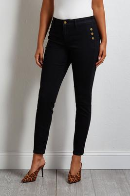 button skinny jeans