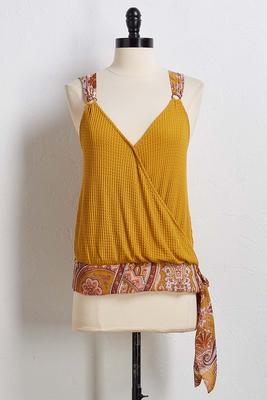 mixed emotions wrap tank