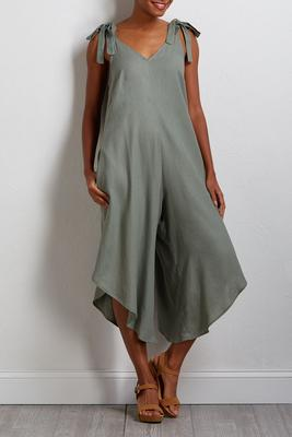 olive a summer linen jumpsuit