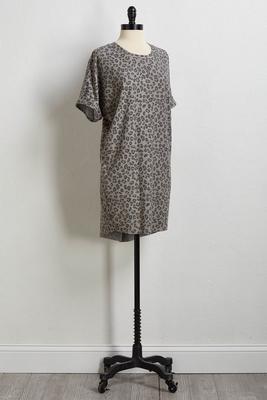 leopard tee dress