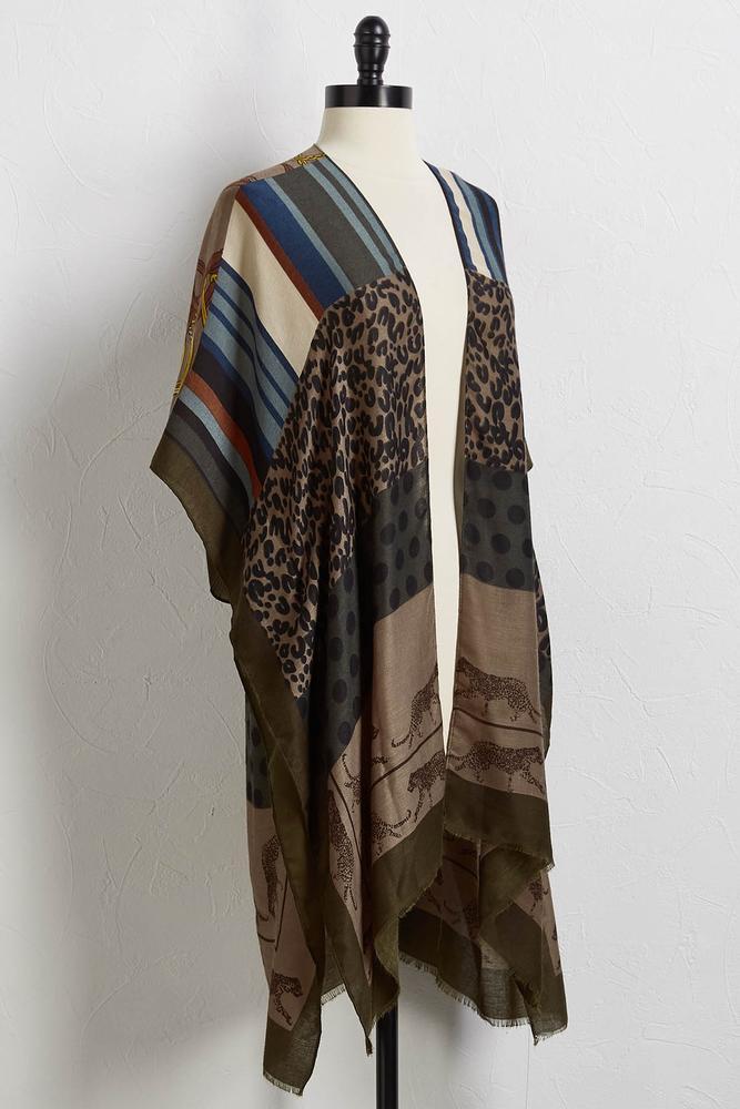Mix Cheetah Kimono