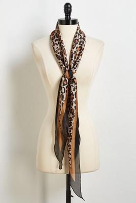 silky leopard scarf