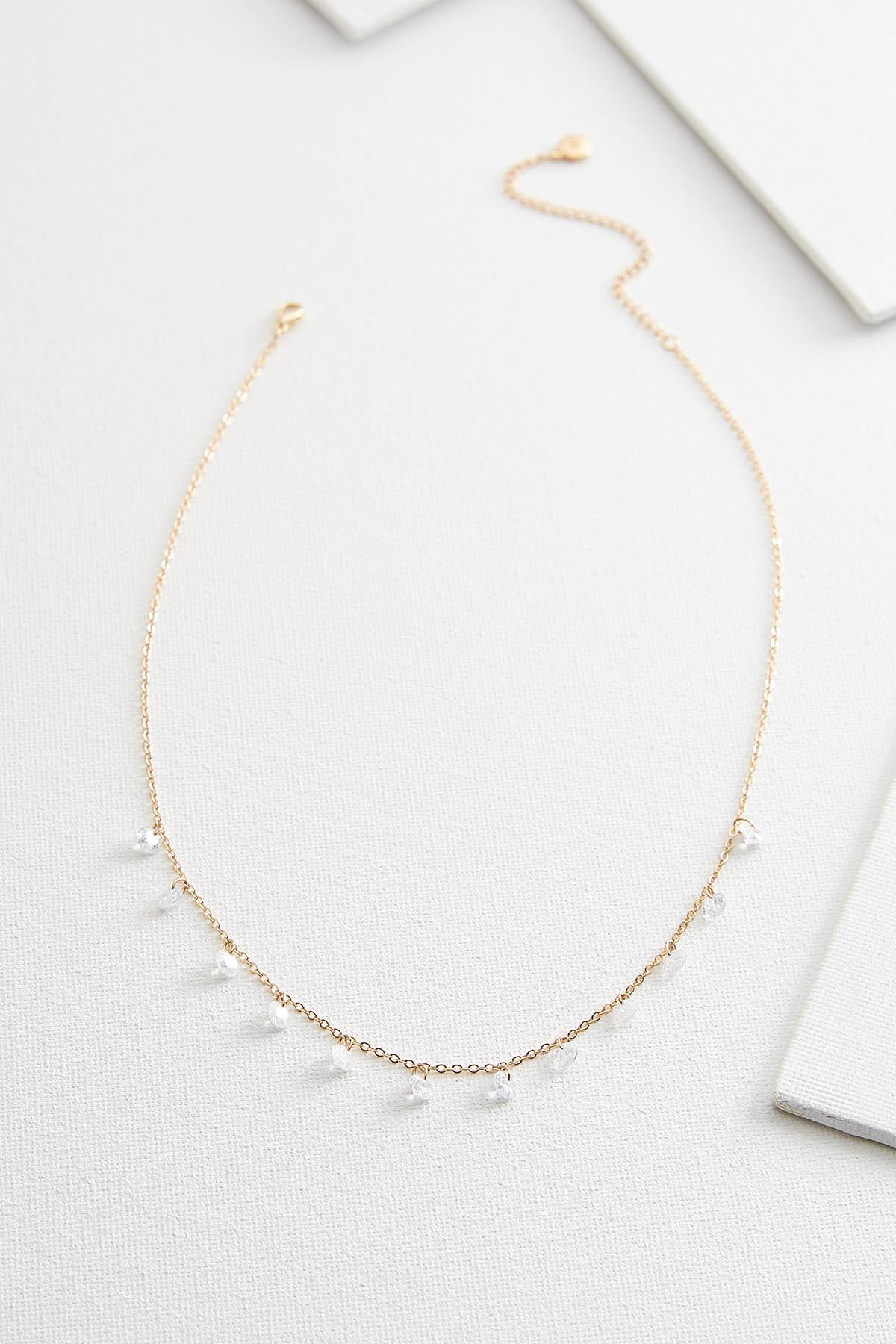 Dainty Dangling Stone Necklace