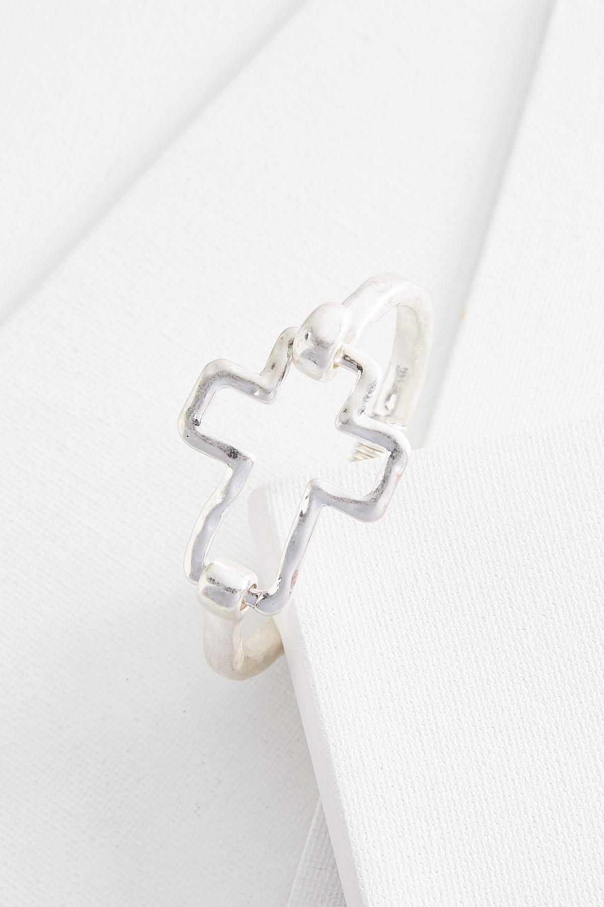 Hammered Cross Hinge Bracelet