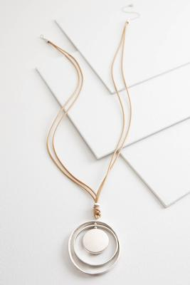 orbital pendant cord necklace