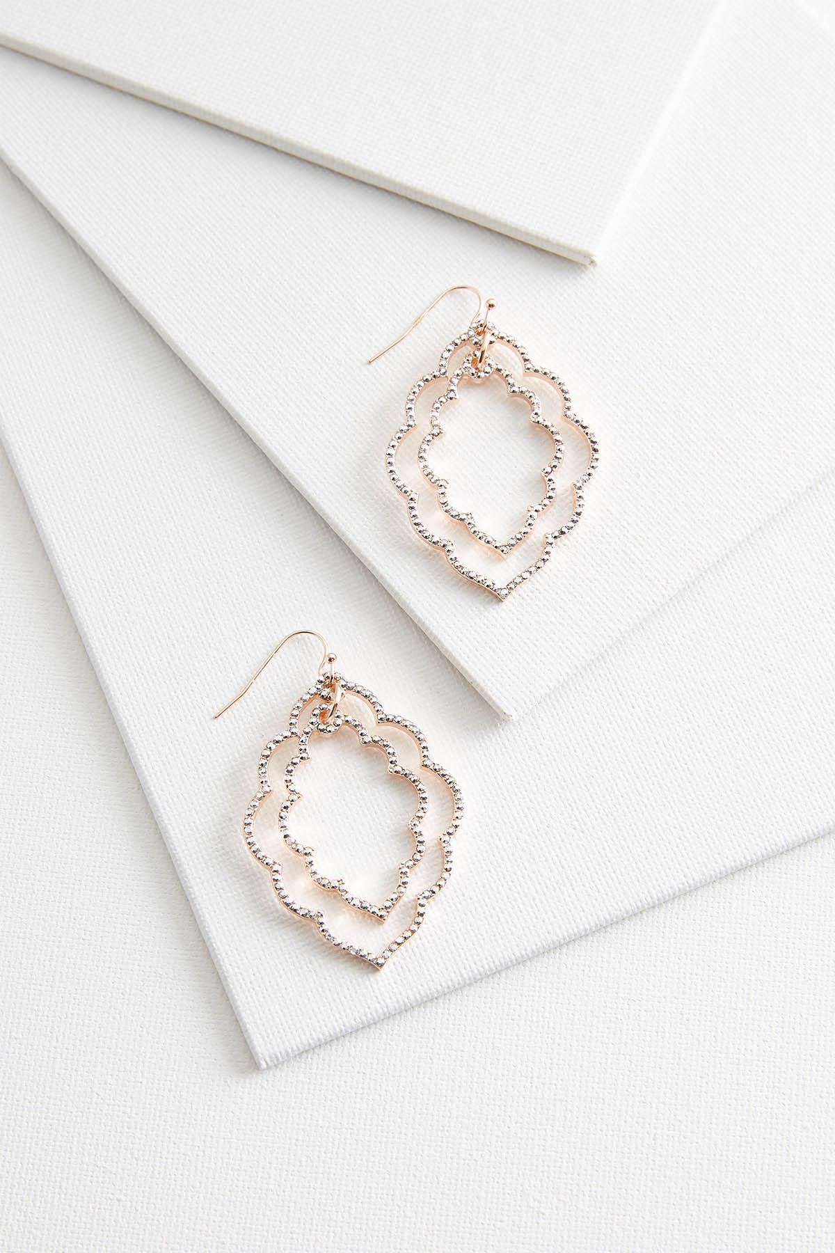 Sparkling Scalloped Earrings