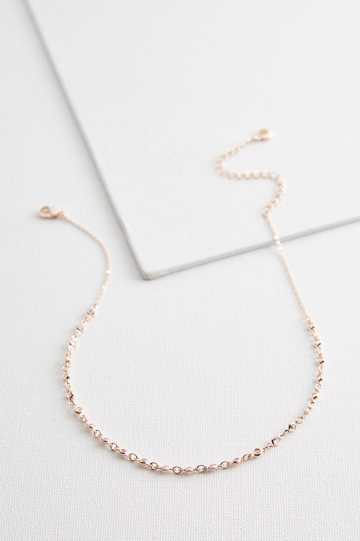 Mini Bezel Choker Necklace