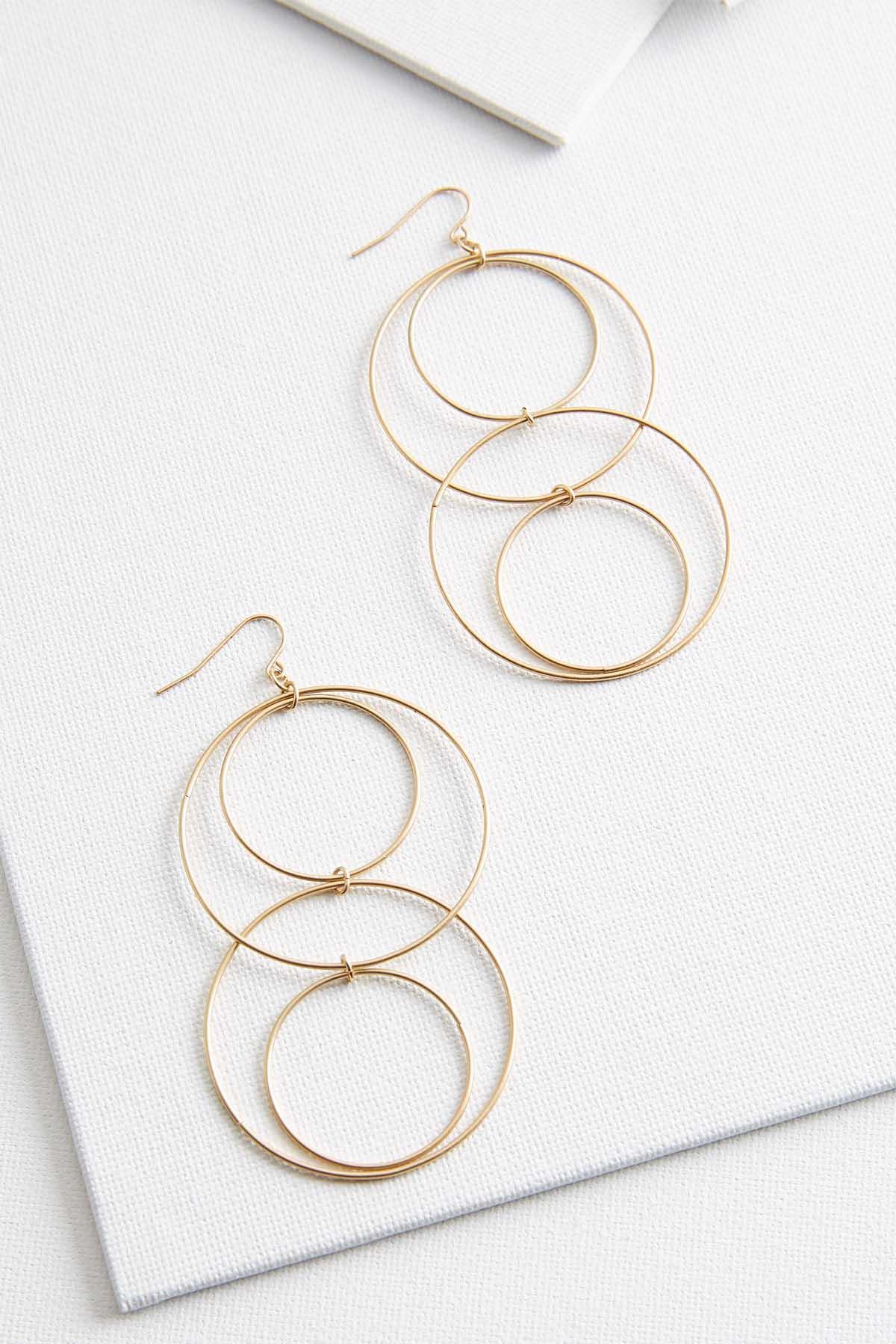 Mod Ring Earrings
