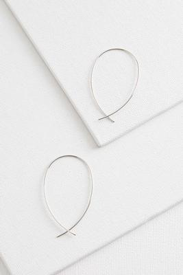 wire threader hoop earrings