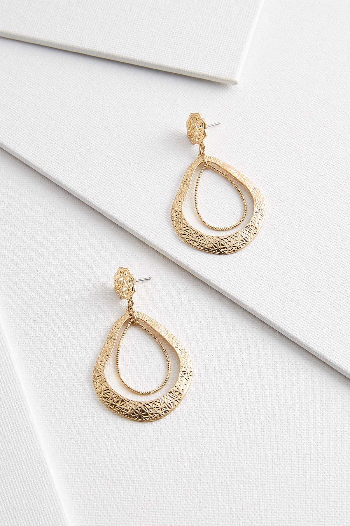 Vintage Textured Gold Earrings