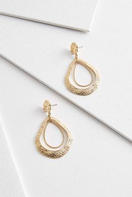 vintage textured gold earrings