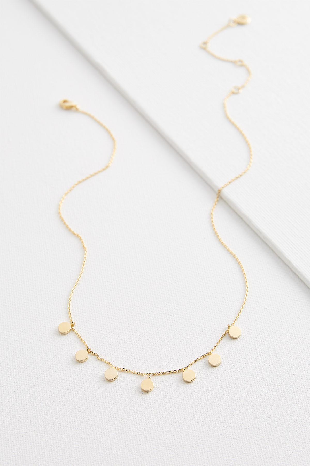 Dangling Disc Necklace