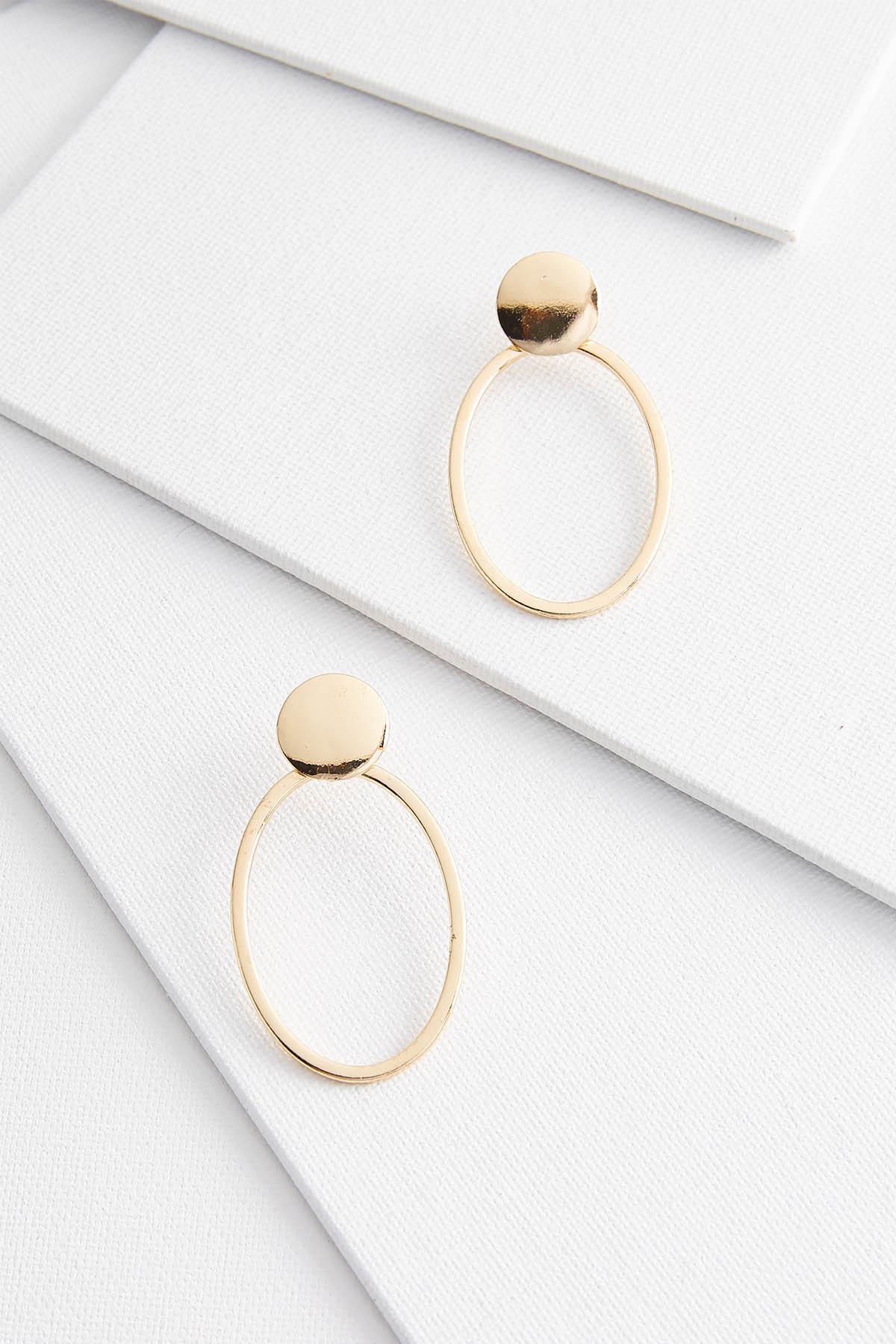 Shiny Gold Door Knocker Earrings